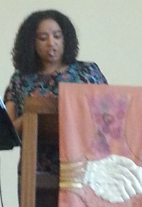 Wanda at pulpit